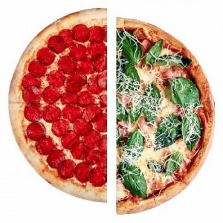 Пицца из двух половинок