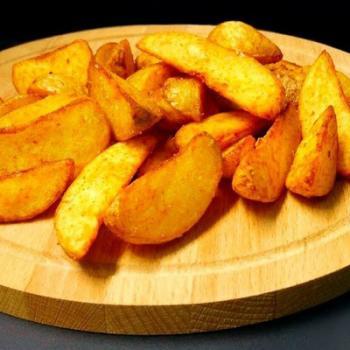 Картофель Айдахо с сырным соусом