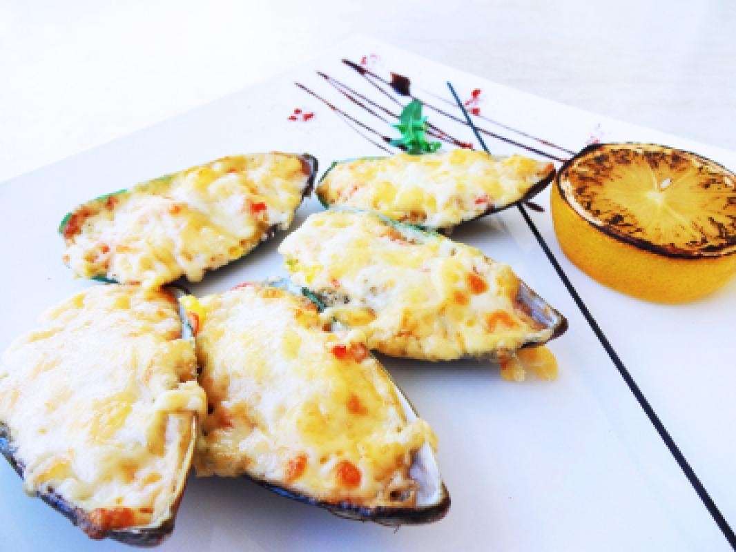 Мидии сырные ( 5 шт порция)