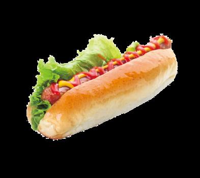 Хот-дог с сосиской