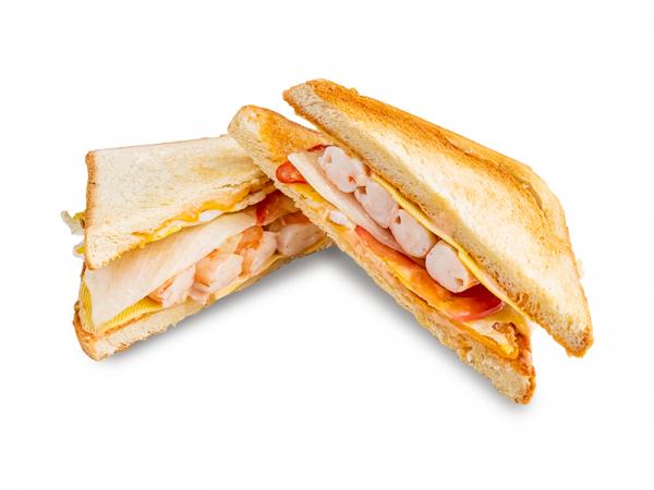 Гавайский сэндвич с креветками