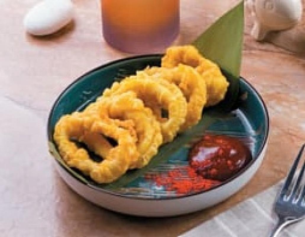 Хрустящие кальмары с корейским BBQ соусом / с кокосовым мисо соусом
