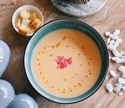 Крем-суп из лосося со сливками