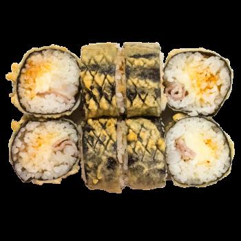 Темпура с беконом и креветкой