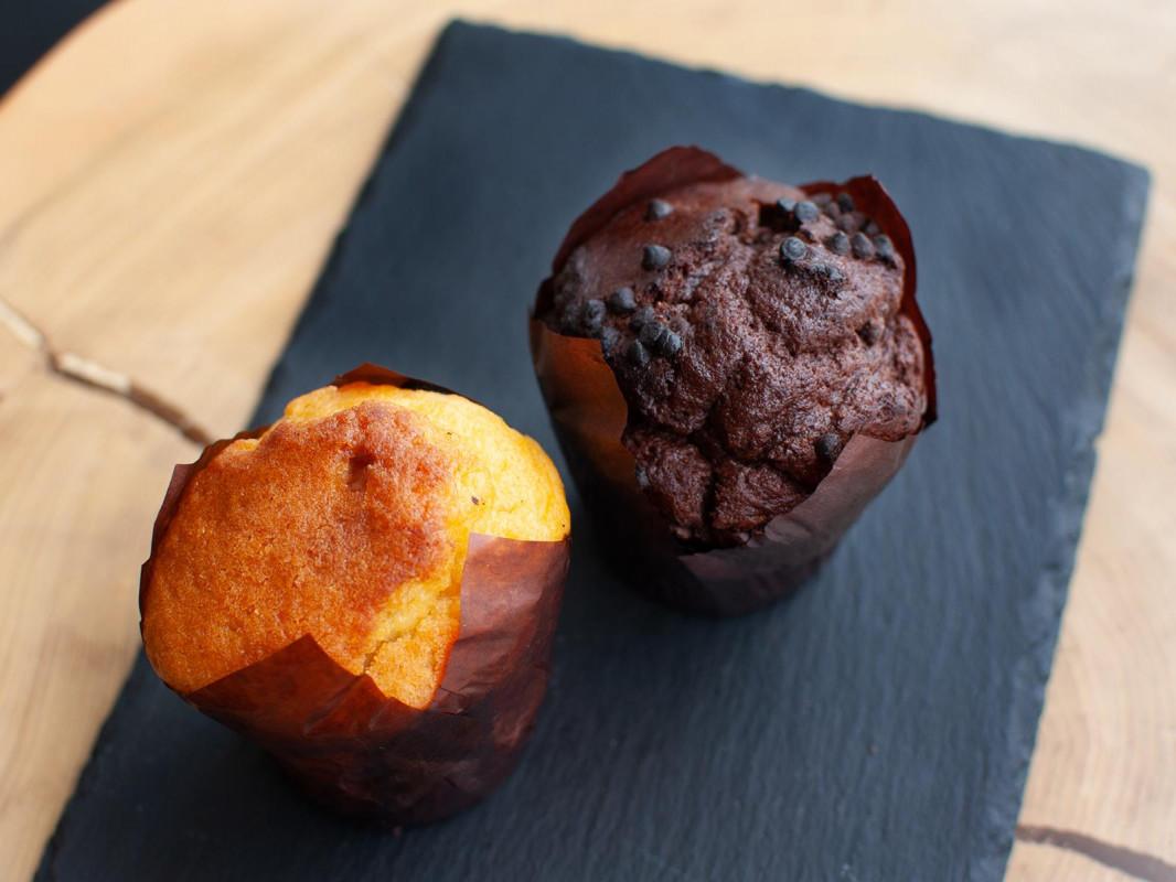 Маффин ванильный с яблоком и корицей (Карамель) 90-100гр