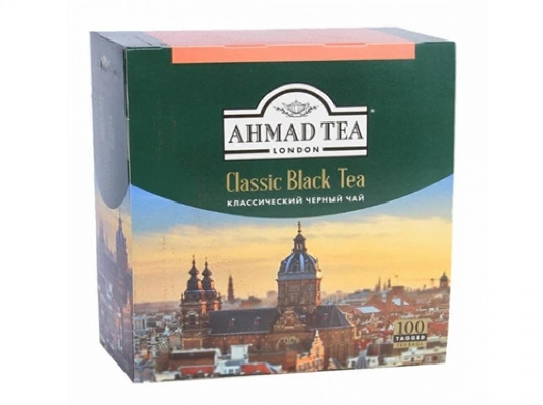 """Чай Ahmad """"Классический"""" черный 100 пакетиков"""
