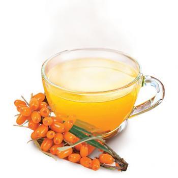 холодный чай облепиховый