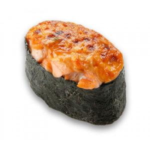 Запеченые суши с лососем