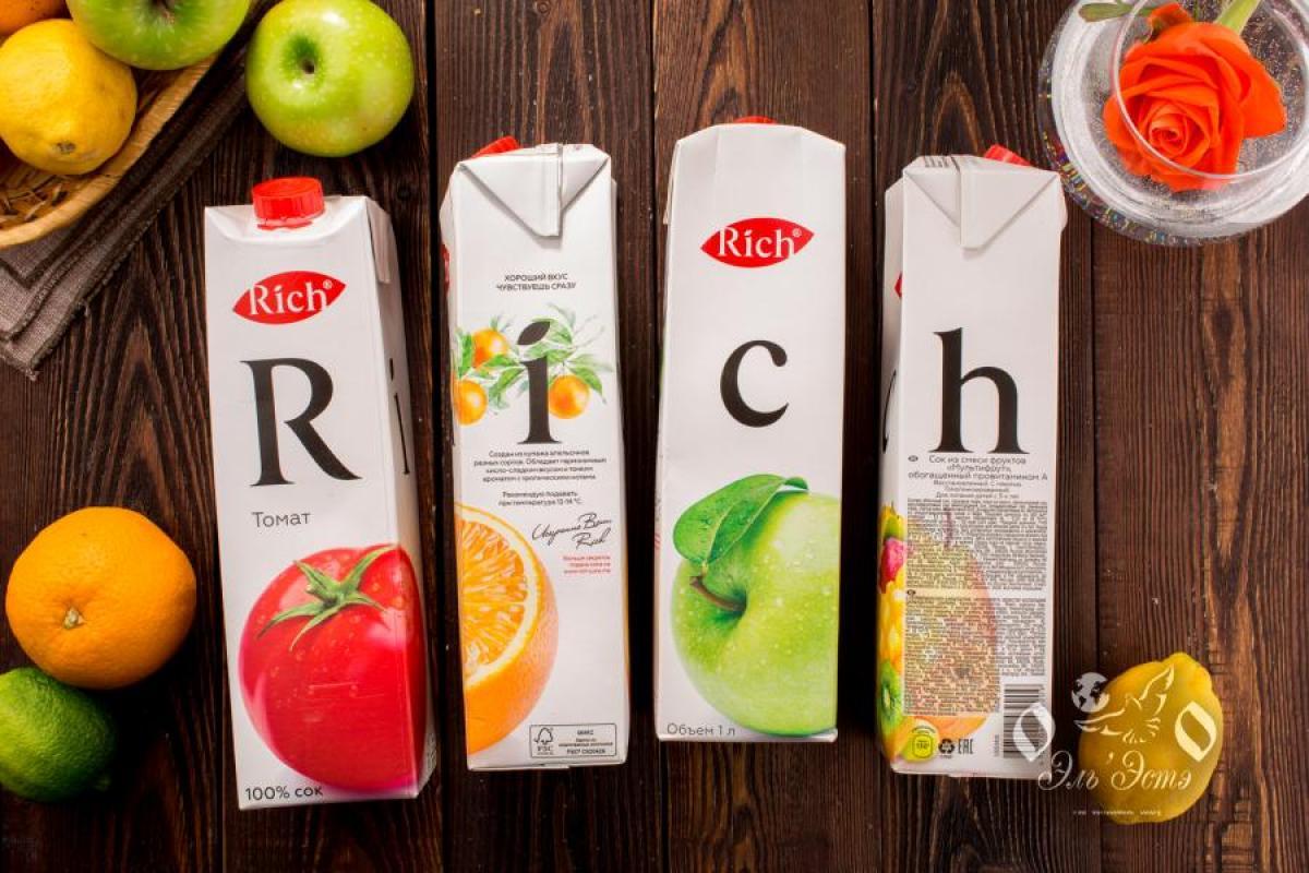 Сок в ассортименте 1л Rich