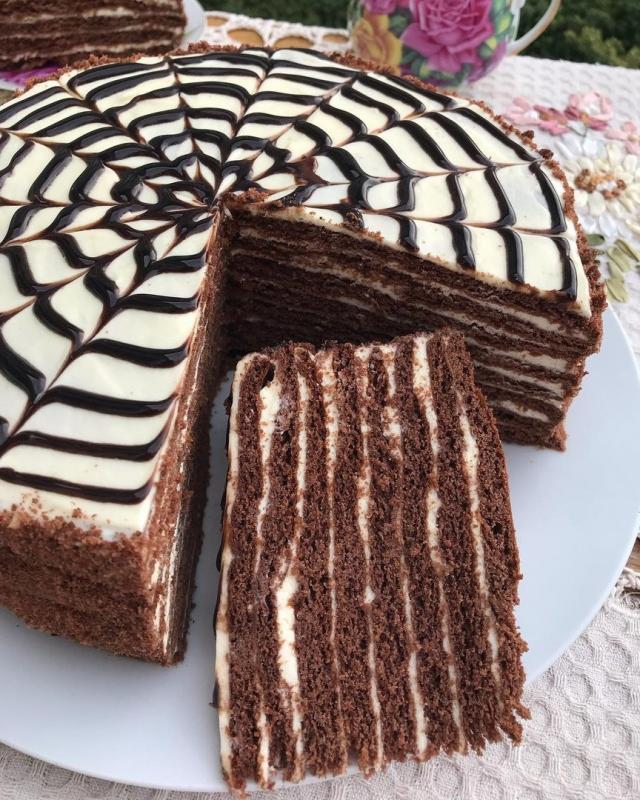 """Торт """"Сметанный домашний"""""""