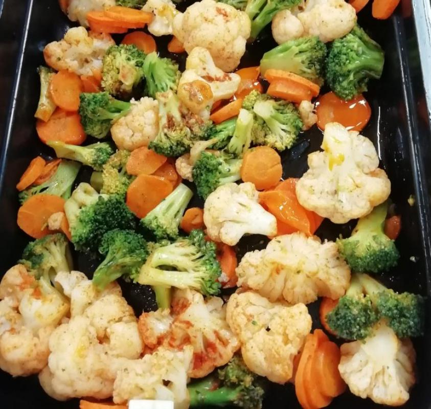 Овощи тушёные в сметане