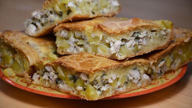 Пирог курица с картофелем