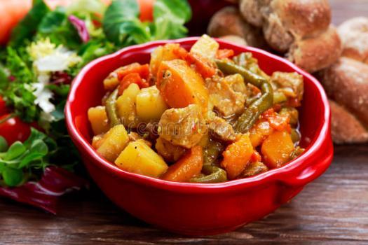 Картофель по-тайски с телятиной
