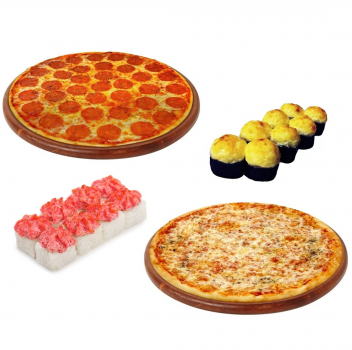 "Комбо ""Дуэт"" 2 пиццы +2 ролла"