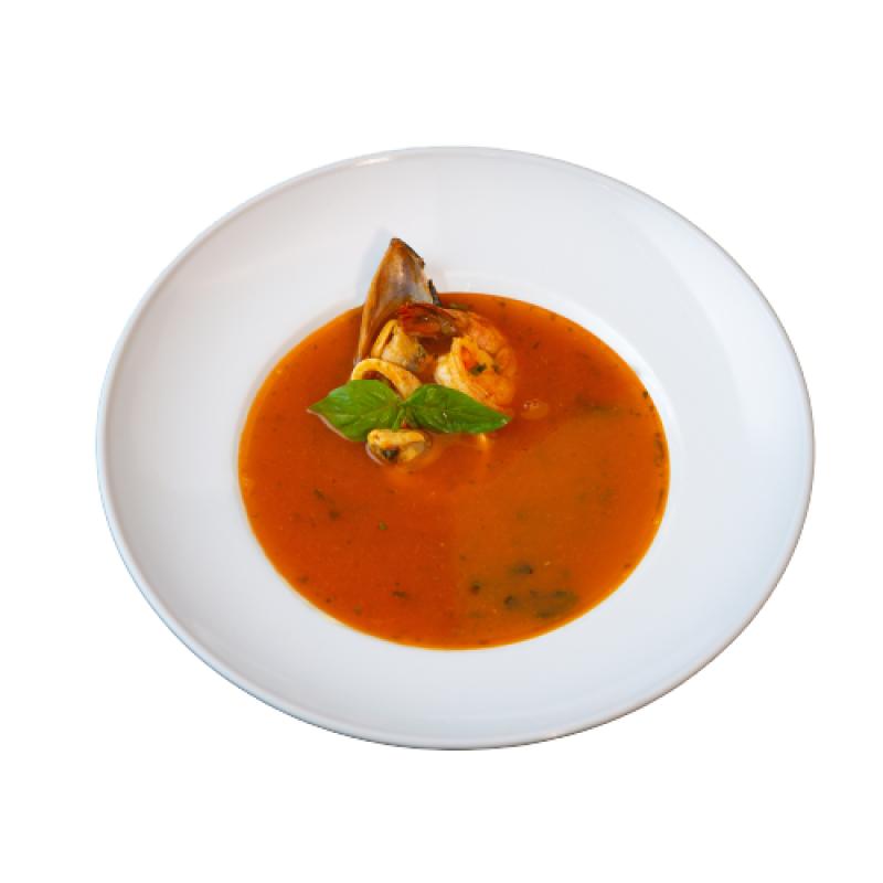 """Суп """"Качукко"""" томатный с  морепродуктами"""