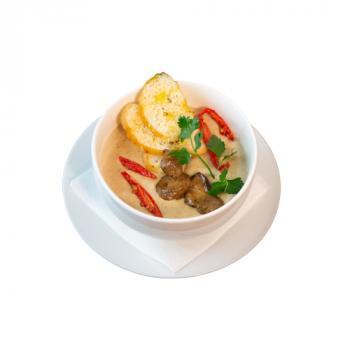 Суп-крем из лесных грибов