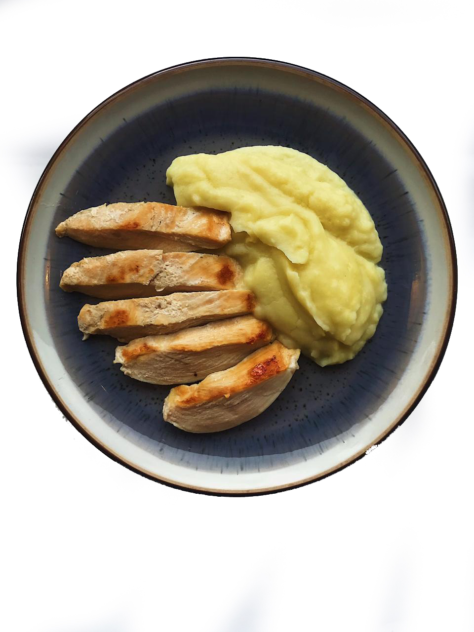 Картофельное пюре с куриной котлетой