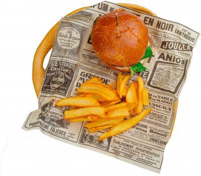 Бургер говяжий + картофель фри