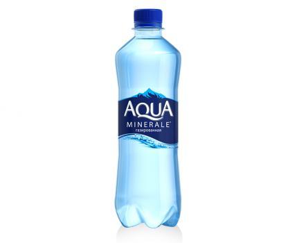 вода аква минерале (газ) 0,5л