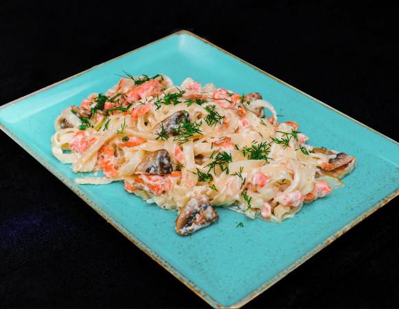 паста сливочный лосось