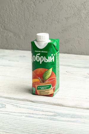 Сок Добрый персик-яблоко 0,33л