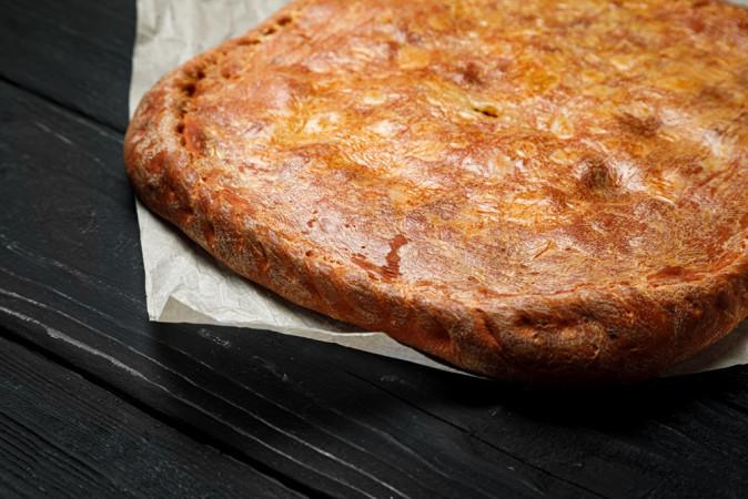 Пирог с горбушой и рисом