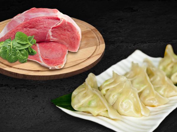 Гёдзе со свининой и шпинатом