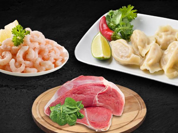 Китайские пельмени со свининой и креветкой