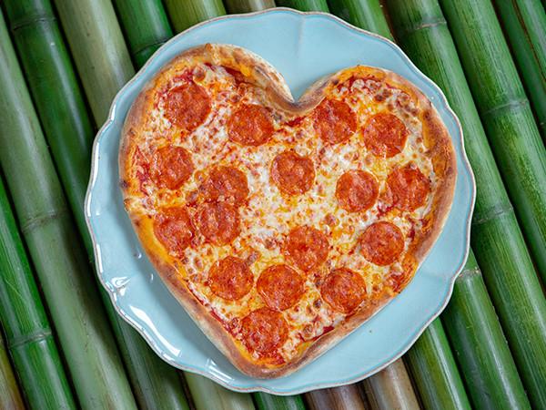 пицца пепперони сердце