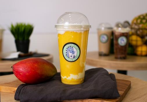 манго с йогуртом и чаем улун