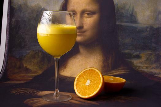 фреш из свежего апельсина