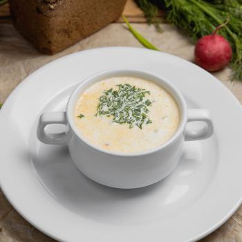 Суп сливочный с семгой и овощами