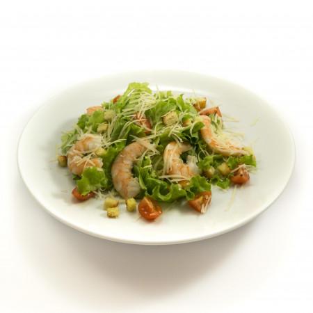 цезарь с креветкой салат