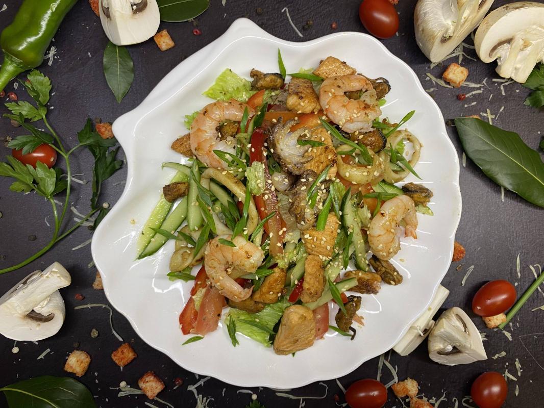 Салат №257 Тайский с морепродуктами