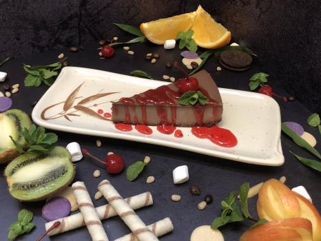 Чизкейк №329 Шоколад с топингом на выбор