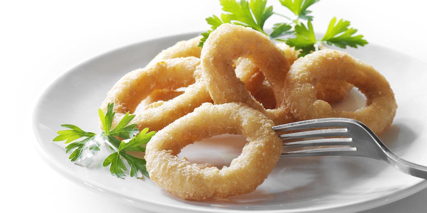 Кольца Луковые с соусом