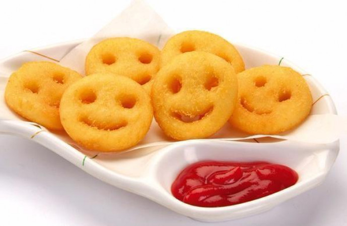 """Картофель """"Улыбка"""" с соусом"""