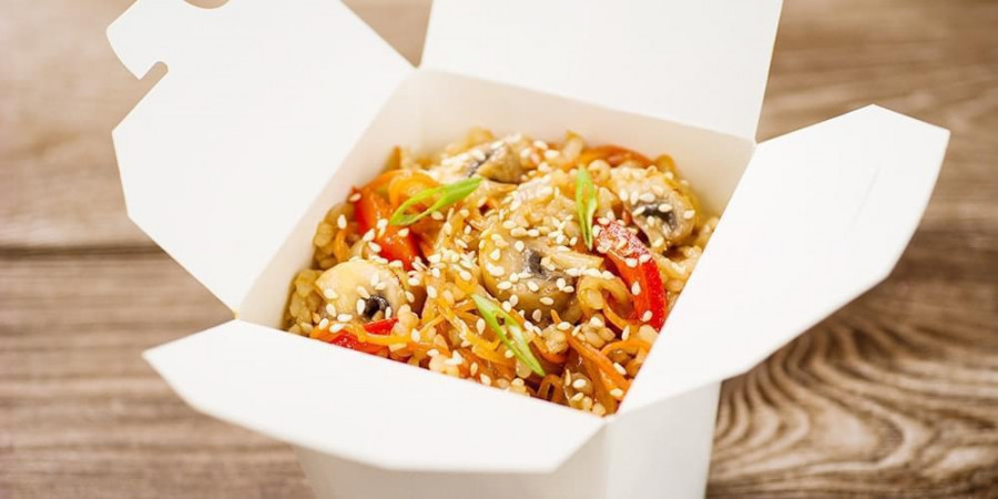 Рис с овощами Вок