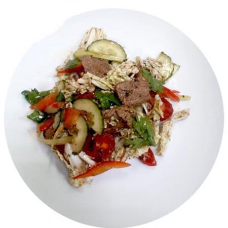 Салат из говядины с овощами, 160гр