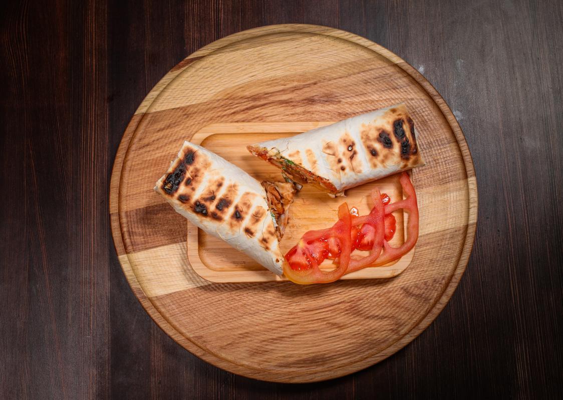 Шаурма со свининой и сыром
