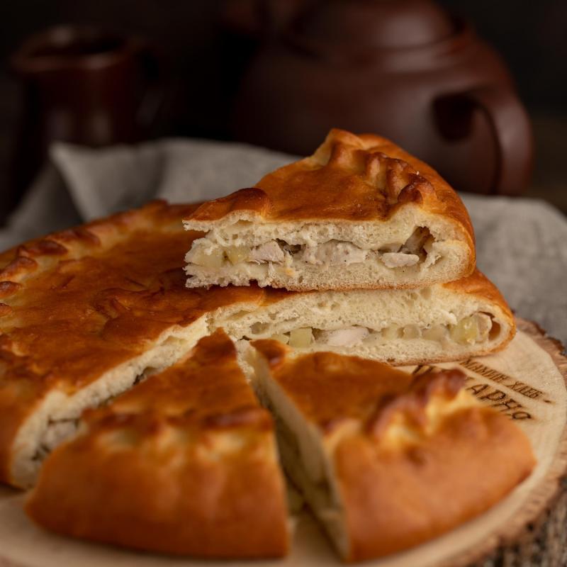 Пирог с курицей и картофелем 500 гр.