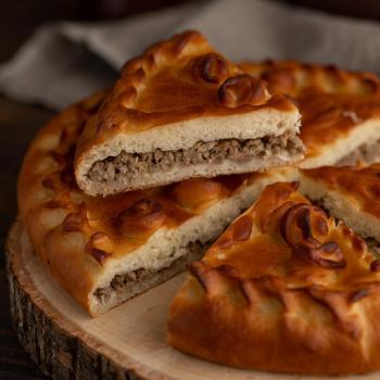 Пирог с мясом 1000 гр