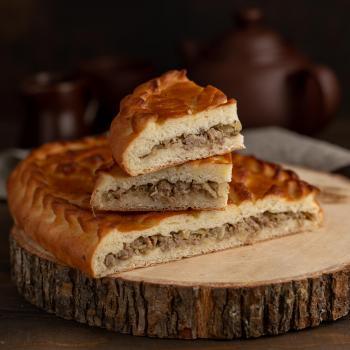 Пирог с мясом и капустой 500 гр.