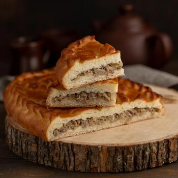 Пирог с мясом и капустой 1000 гр